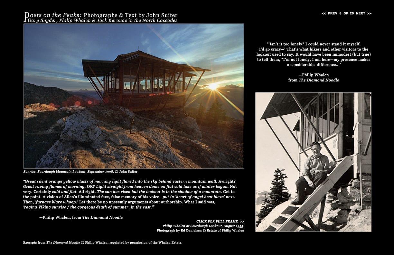 Sunrise, Sourdough Mountain Lookout, September 1998. © John Suiter